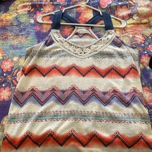 Maurices Aztec Print Tank